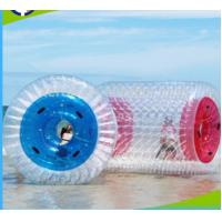 China PVC 1.0mm Inflatable Water Roller , Inflatable Rolling Ball For Adults / Kids wholesale