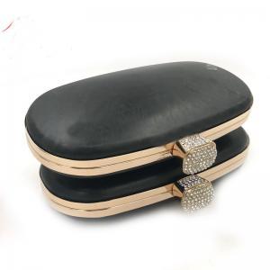 China Manufacturer plastic oval box shell metal purse frame for handbag wholesale