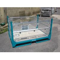 China Gold Zinc Plated IBC Metal Cage Box Foldable Pallet Container 1000 - 2000kgs Weight Capacity wholesale
