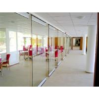China Spotless Room Dividers / Aluminium Frame Sliding Glass Partition Wall for Office wholesale