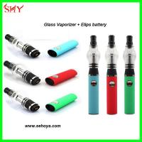 China 2014 pyrex glass bottom coil clearomizer wax glass globe vaporizer Glass atomizer wholesale