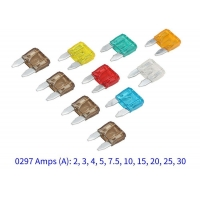 China 297 Series 32V Fast Acting Automotive Mini Auto Blade Fuse 2A 3A wholesale