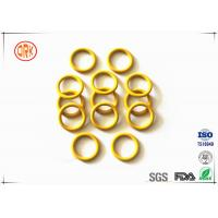 China Yellow Waterproof Silicone O Ring Seal High Temperature Resistance For Electronic wholesale