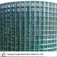 China PVC Coated Welded Wire Mesh|Green Color With 1/4 inch by Carbon Steel Wire wholesale