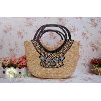 China Wholesale Zipper Rattan Ethnic Customs Handbag wholesale