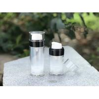 Quality high quality 30ml 50ml round cosmetic airless serum bottle for sale