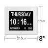 China 8 Inch Video Brochure Card LED Digital Desk Electronic Perpetual Calendar Alarm Day Clock wholesale