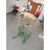 Quality Carbon Steel Play Kids Shopping Carts Flag Logo Pole 465 X 330 X 686mm For for sale