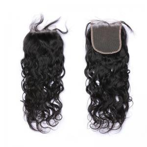 Buy cheap Natural Wave Closure Free Part Peruvian Human Hair Extensions No Shedding No from wholesalers