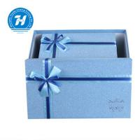 China Blue Custom Luxury Gift Packaging Boxes , Wedding Party Favor Boxes wholesale