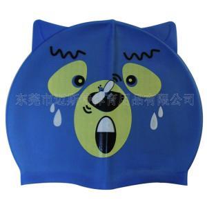China Fashion customized silicone children swimming cap wholesale
