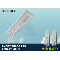 China PIR Motion Sensor Street Lights With Solar Panel For Parking Lot 7500 - 8000LM wholesale