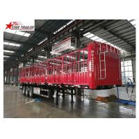 China Cargo Stake Side Wall Semi Trailer 60T Heavy Duty Load With Longer Service Life wholesale