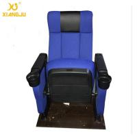 China Luxury Hall Upwarp Seat Cinema Theater Room Seating With Foldable Armrest PP Shell wholesale