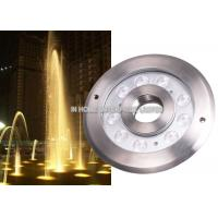 IP68 12W RGB Underwater LED Fountain Lights DC12V / 24V Stainless Steel Manufactures