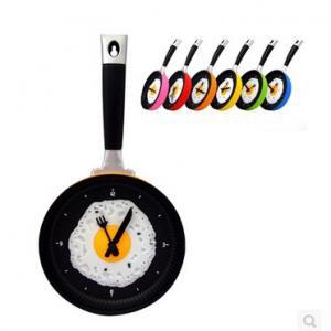 China New creative gift product cook pan wall alarm clock wholesale