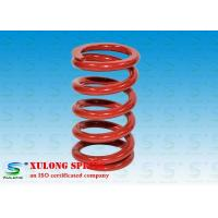 China Red Powder Coated Machinery Springs / 9.5MM Wire Isolate Vibration Springs wholesale