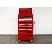 Buy cheap 680mm Red SPCC Steel Rolling 27 Inch Tool Cabinet With KEY Lock from wholesalers