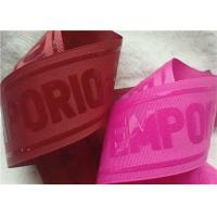 China Shiny Transparent Silicon Logo Screen Printing Label In Coloful Polyester Thread Ribbon on sale