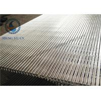 China 304 Stainless Steel Wedge Wire Screen , Vibrating Screen Panels Long Lifespan wholesale