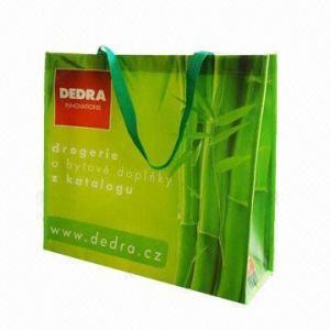China Nonwoven shopping bags, made of 120g nonwoven + shine lamination wholesale
