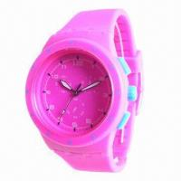Buy cheap Sports Watch with Quartz Movement, Silicone Strap and Plastic Case, Hot Sale from wholesalers