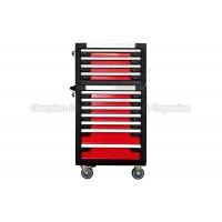 China Red 11 Drawer 27 Inch Tool Cabinet Toolbox On Wheels wholesale