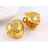 China wholesale 24K Gold plated fashion jewelry, heart shaped stud earrings for women on sale