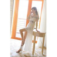 China Gauze Beaded Diamond womens formal suits Boat Neck off shoulder party dresses wholesale