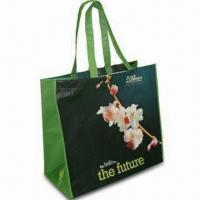 China Plastic Tote Bags, Made of RPET Material with Matte Lamination, Measures 35 x 39 x 20cm on sale