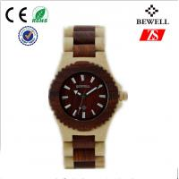 Quality Personalized Zebra Wood Watch For Boy With Original Japanese Battery for sale