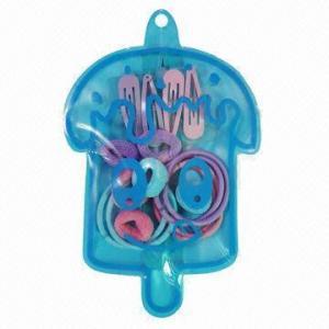 China Hair Clip/Pony O/Hair Elastic in PET Bag Set wholesale