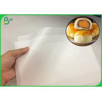 Buy cheap 35GSM MG White Kraft Paper Roll With One Side Resists Wet And Greaseproof from wholesalers