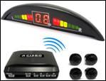China 4 Sensors Red  LED Wireless Parking Sensors reverse parking System on sale
