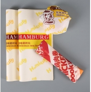 China 38g/45g OilProof Baking hamburger wax paper Taiwan Rice Ball Wrapping Paper wholesale