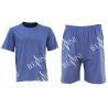 China Mens Cotton Jersey Round Neck Tee Short Pants Pyjamas Set Summer Pyjamas wholesale
