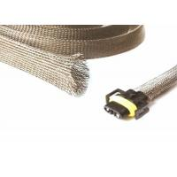 China Halogen Free Tinned Copper Braided Sleeving For Wire Shielding Protection wholesale