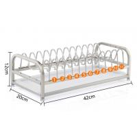 China 1-Tier Standing Dish Drying Rack , Countertop Storage Kitchen Dish Racks on sale