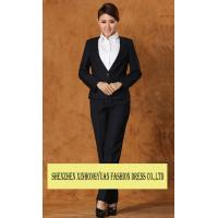 China professional Corporate Office Uniforms White - Collar Ladies Office Suit wholesale