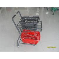 China Two Tier Flat Wheel Airport Shopping Basket Trolley 50L CE / GS / ROSH wholesale