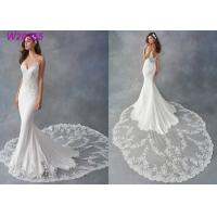 China Spaghetti Strap Sheath Vestido White Mermaid Wedding Dress De Noiva Boho Dubai Arabic wholesale