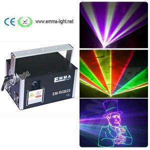 China 3W 3000mW RGB Laser Light DMX Stage Lighting ILDA 40K Laser Show full color  rgb laser light wholesale