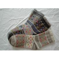Non Skid Soft Womens Wool Socks Thick Warm With Terry Loop