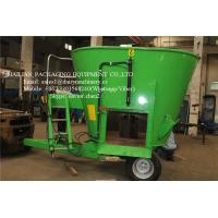 China Stationary Feed Mixer For Farm Animal Feeding Mixing Vertical Green Color wholesale