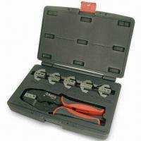 China 7pcs Professional Quick Change Ratcheting Crimping Tool Set with Contoured Rubber Grips wholesale