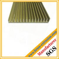 Extruded copper alloy brass electrical parts extrusion profiles sections Manufactures