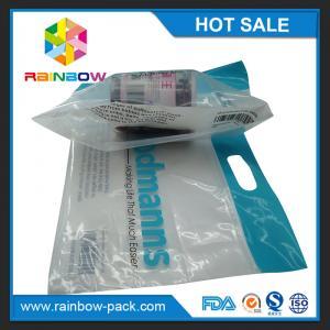 custom reusable food packaging plastic zip-lock bags  slider ziplock bag with logo stand up bag clear front