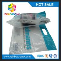 Quality custom reusable food packaging plastic zip-lock bags  slider ziplock bag with logo stand up bag clear front for sale