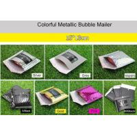 China 15x13cm Purple Metallic Bubble Mailer Easy Using With Excellent Shock Resistance wholesale