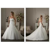Custom Made Style Real Photo A Line Strapless Bride's Wedding Dresses